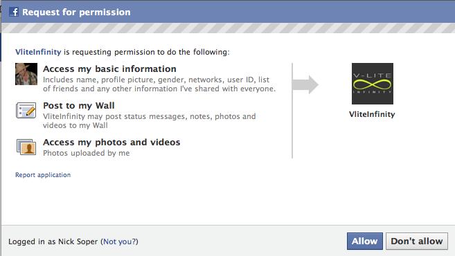 Facebook Asks for Permission