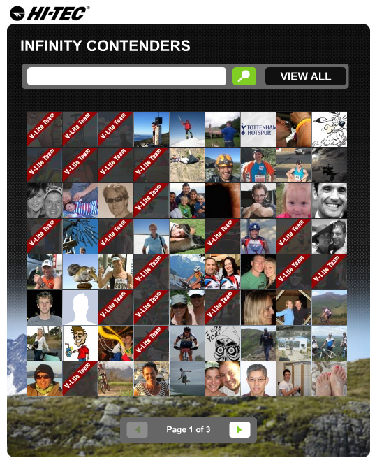 Hi-Tec Facebook App - The Contenders