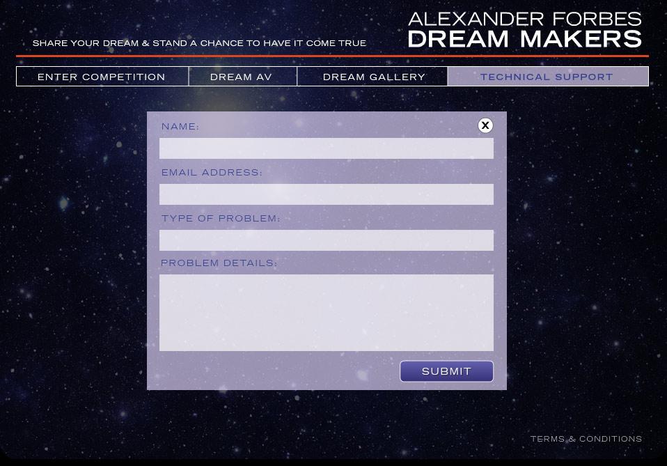 Dreamcatchers Technical Support