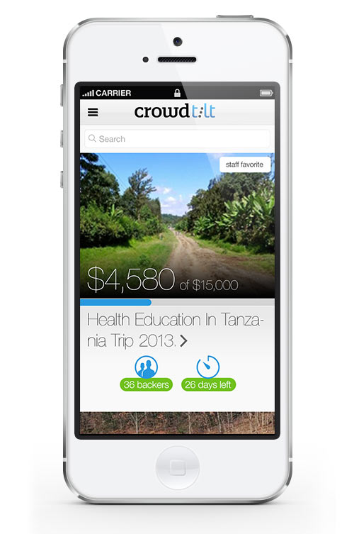 Crowdtilt iOS App Design