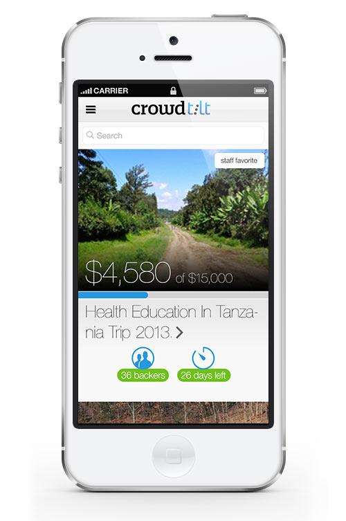 Crowdtilt iOS App Design