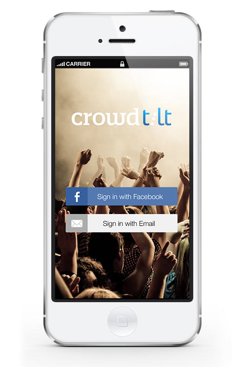 Crowdtilt iOS App Login Screen