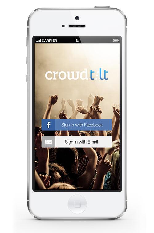 Crowdtilt iOS App Login Screen