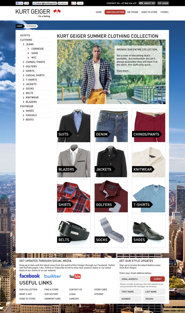 Catalogue Landing Page