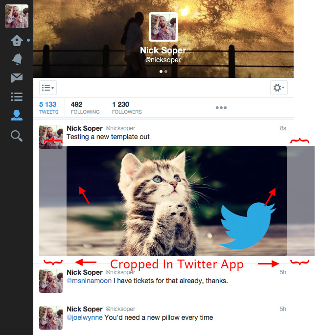 Cropping of Twitter Card Dimension Images in Twitter App